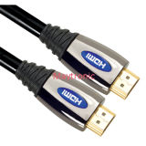 Cabo de nylon da trança HDMI do escudo de alta velocidade do metal
