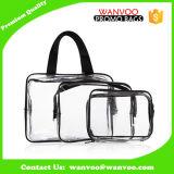 3つのサイズジッパーが付いている明確な透過PVC方法防水旅行洗面用品の洗浄装飾的な袋