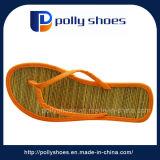 Form-bequeme Baumwollstroh-Einlegesohlen-Strand-Frauen-fantastische Hefterzufuhr-Orange