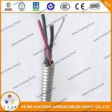 Liste UL A8000 conducteur aluminium d'isolation en polyéthylène réticulé asservi Armor Gaine en PVC Câble Mc