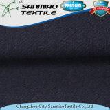 Tessuto del denim del Knit della saia dello Spandex del cotone 5% dell'indaco 95%
