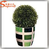 Árvore artificial da esfera da grama do Topiary do projeto 2015 distintivo para a decoração