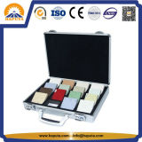 床タイルアルミニウムおよび厚いハンドルの表示スーツケース(HW-5022)