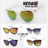Óculos de sol Kp60379 Fashinable da combinação do plástico e do metal e escolhas da Muti-Cor