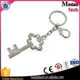 Heet verkoop Metaal Keychain van de Kristallen van de Vorm van de Giften van de Herinnering het Creatieve Zeer belangrijke