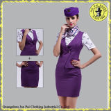 Disegno uniforme dello Stewardess americano su ordinazione di linea aerea, uniformi del sorvegliante di volo per le ragazze