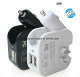 Multi заряжатель USB переходники стены заряжателя автомобиля функции
