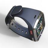 L'écran tactile de 1.54 pouce IP65 imperméabilisent la montre intelligente avec les bandes duelles GM/M et le WiFi, le GPS et la fréquence cardiaque dynamique, ECG, contrôle de pression sanguine, rappel sédentaire