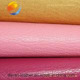 Горячая продавая синтетическая кожа для куртки