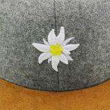 Tampão relativo à promoção bordado do Snapback do inverno do algodão