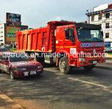 Sinotruk HOWO 트럭 덤프 트럭 쓰레기꾼 팁 주는 사람