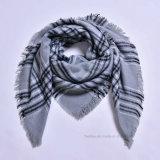Мода клетчатыми проверьте из квадратных шарфом (H04)