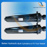 Cilindro hidráulico del soporte temporario doble para la grúa móvil