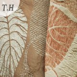 셔닐 실 자카드 직물 직물 잎 디자인 (FTH31015A)