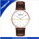 Montre unisexe de Dw de type de quartz ultra-mince simple d'acier inoxydable
