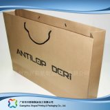 Packpapier-verpackenträger-Beutel Brown-Für Einkaufen-Geschenk-Kleidung (XC-bgg-009)