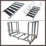 Estágio redondo portátil de alumínio ajustável para o casamento