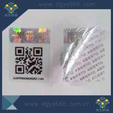 Autocollant anti-contrefaçon hologramme avec numéro de code à barres