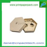 Изготовленный на заказ твердая бумажная коробка подарка меда верхней части и дна упаковывая с ISO9001