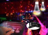 DMX512 bulbo controlable del panel de control 8W RGB-CCT LED