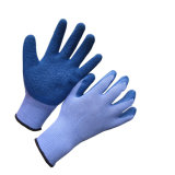 10gポリエステルしわの乳液は安全作業手袋に塗った