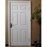 Primeira demão branca porta interior moldada de HDF (porta de HDF)