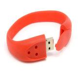 Venda a quente bracelete pulseira de disco USB personalizados Unidade Flash USB