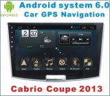 Android System 6.0 Car Stero para Cabrio-Coupe 2013 com leitor de DVD de carro