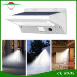 Luz solar durável de jardim solar luminoso de alta luminosidade Luz de parede solar de 21 LED com luz de indicador de modo de trabalho para andaimes