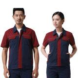 Kleid-Fabrik-Export-Arbeitskraft-Abnützung-Arbeits-Uniform mit kurzer Hülse