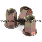 Noix Hex fraisée jaune de rivet d'acier du carbone de Z/P