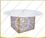 Acciaio inossidabile superiore del MDF LED che Wedding tavola rotonda