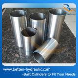El acero inconsútil afiló con piedra los tubos para el cilindro hidráulico