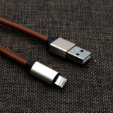 3.3 FT di 5V 2A di cuoio dell'unità di elaborazione hanno coperto il cavo del telefono di 8 Pin per il telefono di Samsung di iPhone