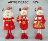 De vrolijke Kerstman van Kerstmis, Sneeuwman, de Komst gift-3asst. van de Aftelprocedure van het Rendier