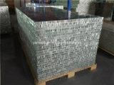 4'x8 'incombustible PE / PVDF revestido paneles de aluminio de nido de abeja para revestimiento de la pared exterior