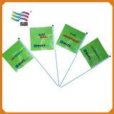 Mini bandierine promozionali su ordinazione dell'onda della mano di stampa del poliestere (HYHF-AF018)