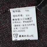 Яки роскоши людей Bn1402 Semi Worsted и смешанный шерстями связанный пуловер шеи v