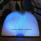 야영 점화를 위한 목제 덮개 LED 낭독서 빛