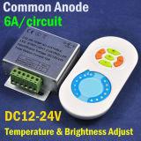 CCT Color-Temp регулируемый регулятора яркости освещения приборов контроллер с РЧ беспроводная нажмите кнопку пульта ДУ