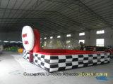Piscina interior e exterior do pára-choques infláveis carro corrida pista para o carro pára-choques