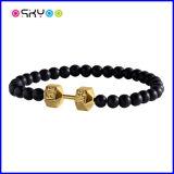 Noir de Fitlife et bracelets d'haltère d'or