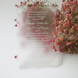 O cartão desobstruído acrílico dos convites, Wedding convida, os convites acrílicos, Wedding convites