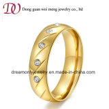Оптовая торговля дамы наборов ювелирных изделий 18k кольцо из нержавеющей стали с золотым покрытием