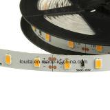 SMD5630 impermeabilizan tiras decorativas de interior/al aire libre flexibles de la iluminación LED
