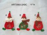 """4.5 """"Hx3"""" L Ornamento del árbol de Santa y del muñeco de nieve y sostenedor 3 de la tarjeta"""