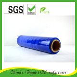 Пленка упаковки пленки простирания LLDPE голубая пластичная