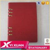 Organizador de capa dura de alta qualidade Notebook PU Leather Cover Notebook Diary