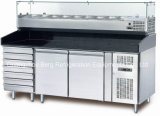 Refrigerador de enfriamiento del vector de la preparación del emparedado del ventilador del acero inoxidable