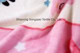 Franela impresa del poliester/tela coralina del paño grueso y suave - 16505-8 1#